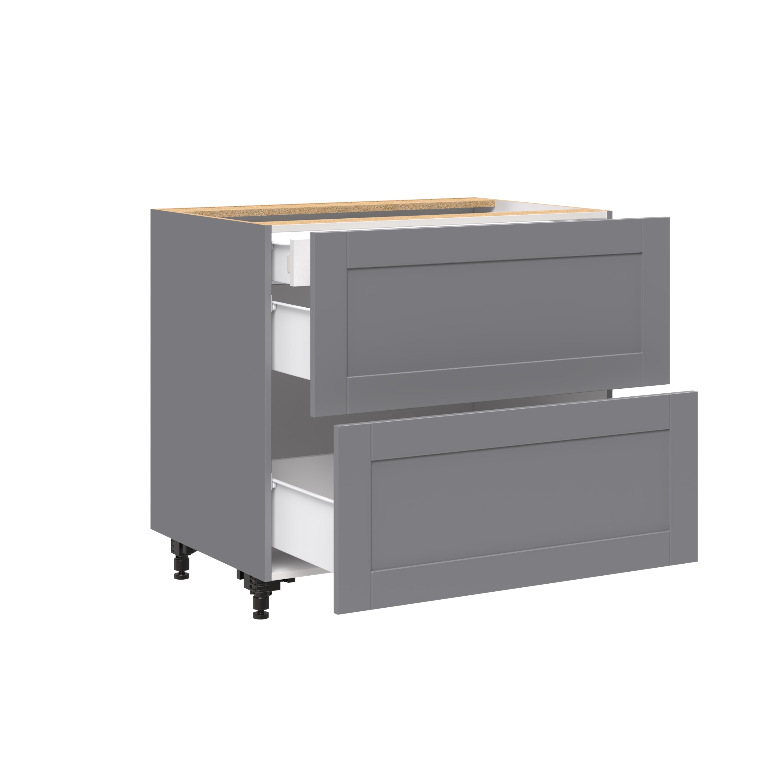30 Base Cabinet With 2 Drawers And 1 Inner Drawer J