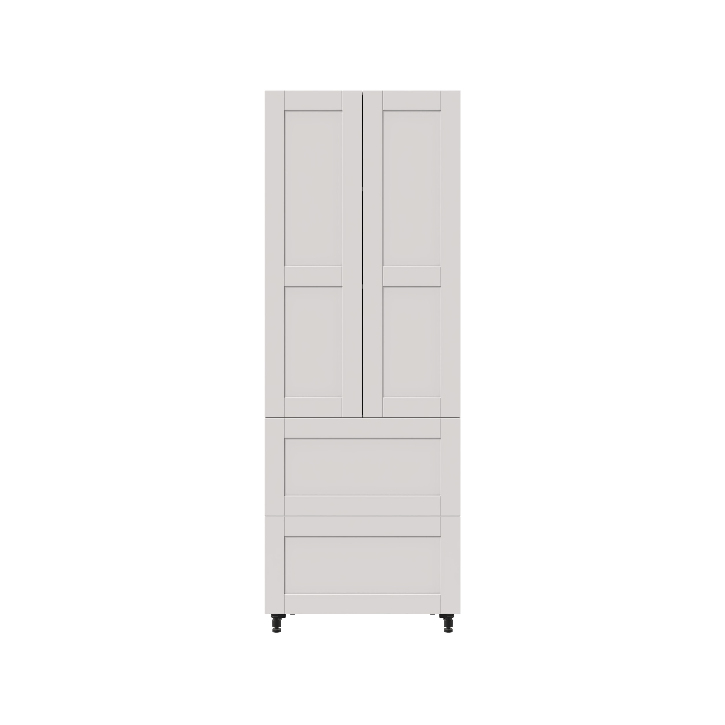 30 Tall Cabinet With 2 Doors 2 Drawers And 2 Interior
