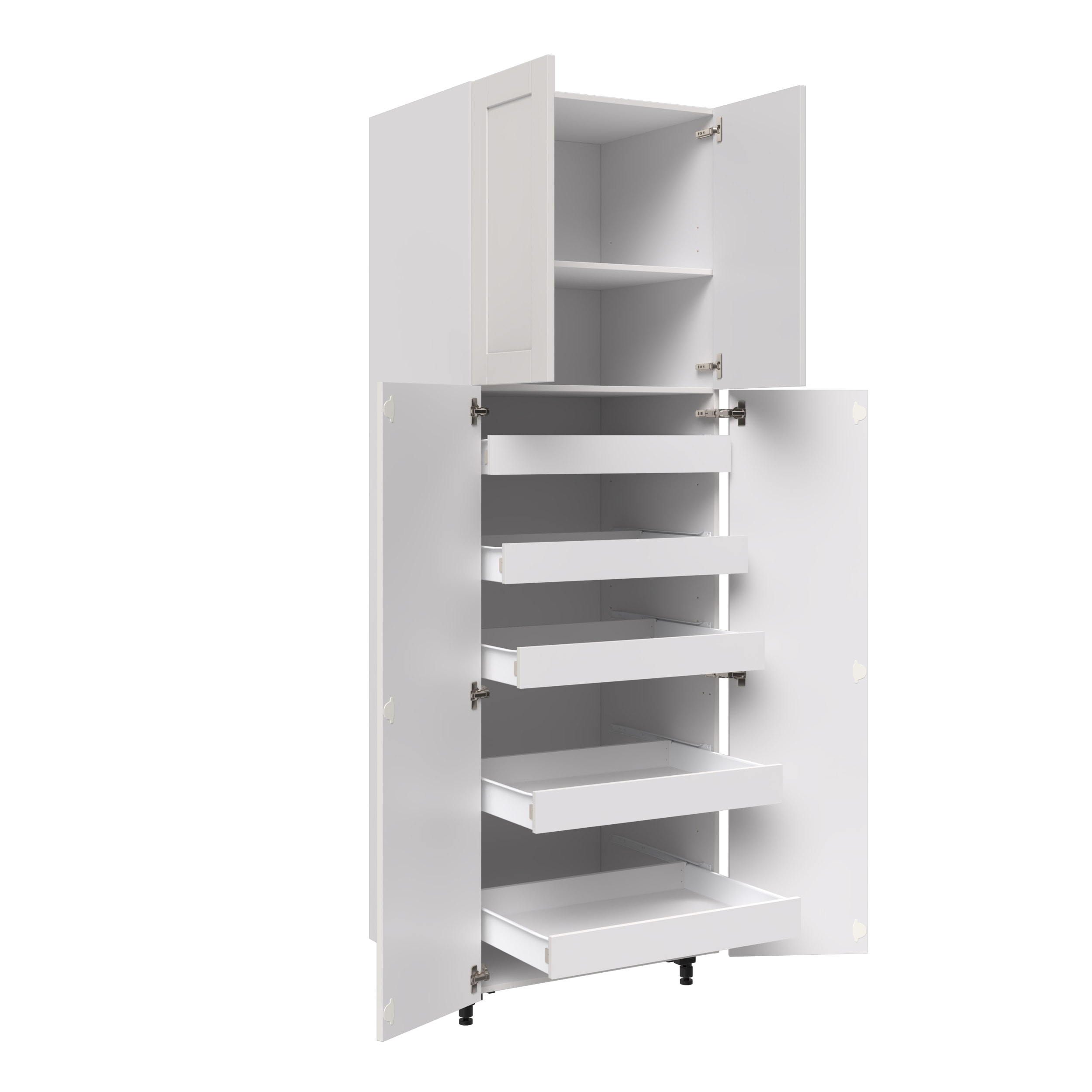 30 Tall Cabinet With 2 Bottom Tall Doors And 5 Interior Drawers